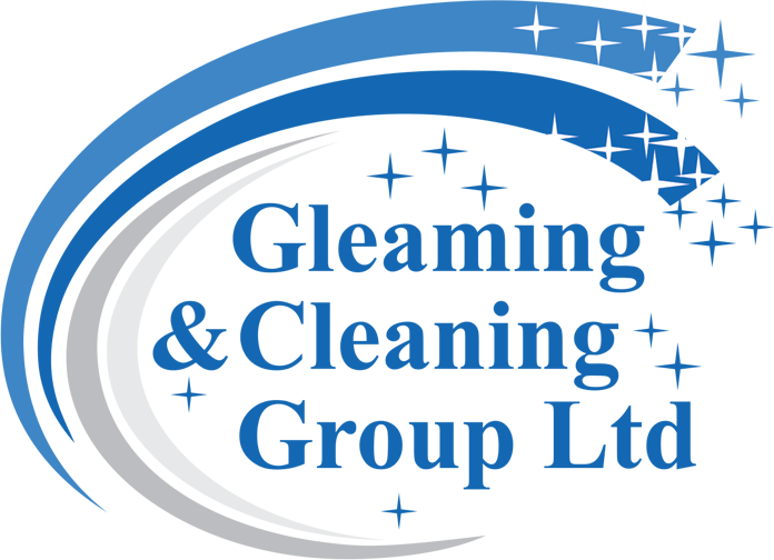 Gleaming cleaning logo